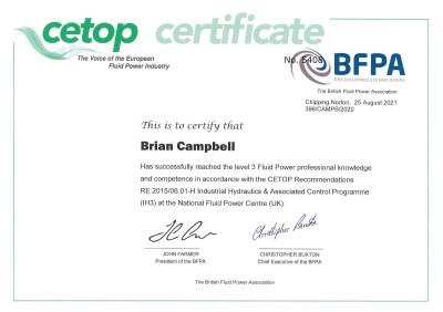 Brian Campbell - Awarded Cetop Level 3  illustration 1
